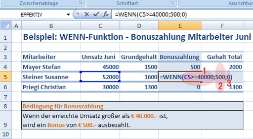 Grafik Excel Wenn Funktion - Bild 2