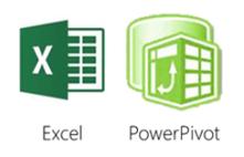 Logo von Excel und PowerPivot