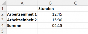 Addieren von Uhrzeiten im 24-Stunden-Format