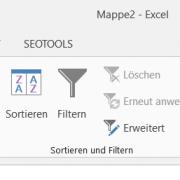 Setzen von Filtern in Excel